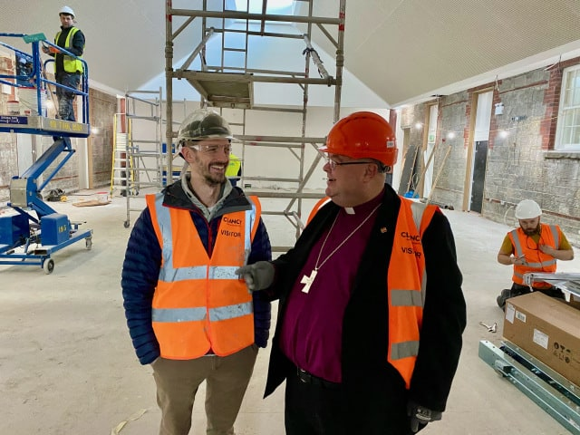 Bishop Paul Colton makes site visit to the Carraig Centre, Ballincollig