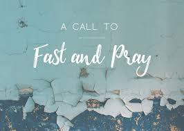 Prayer & Fasting Wednesday 18th March